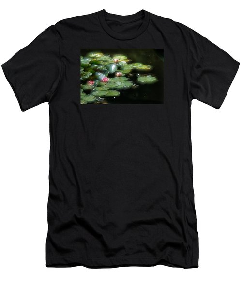 Men's T-Shirt (Slim Fit) featuring the photograph At Claude Monet's Water Garden 11 by Dubi Roman