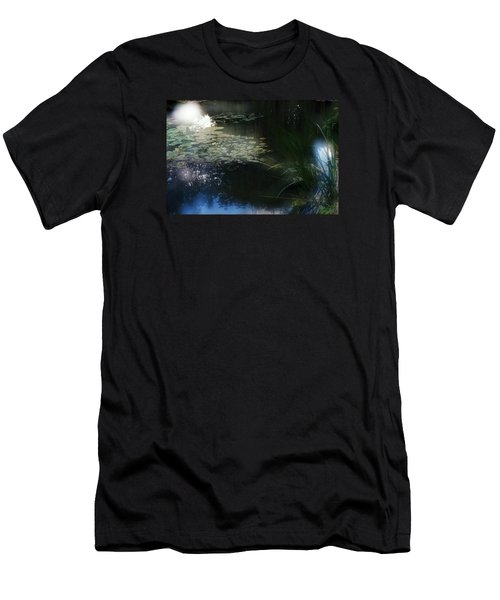 Men's T-Shirt (Slim Fit) featuring the photograph At Claude Monet's Water Garden 3 by Dubi Roman
