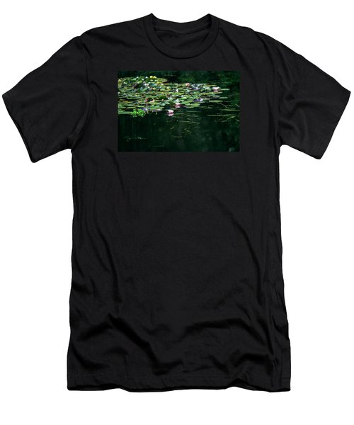Men's T-Shirt (Slim Fit) featuring the photograph At Claude Monet's Water Garden 8 by Dubi Roman