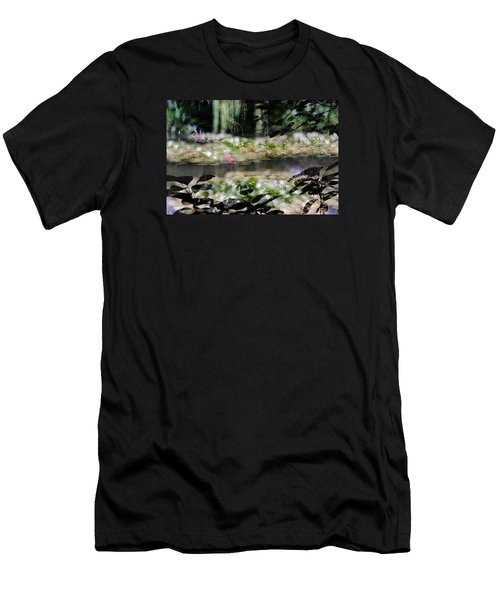 Men's T-Shirt (Slim Fit) featuring the photograph At Claude Monet's Water Garden 9 by Dubi Roman