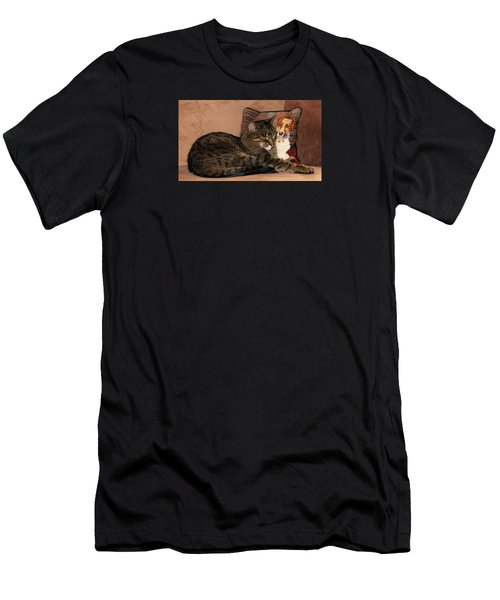 At Least One Thing Dogs Are Good For Men's T-Shirt (Athletic Fit)