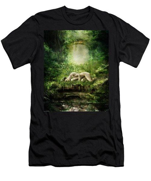 At Sleep Men's T-Shirt (Athletic Fit)