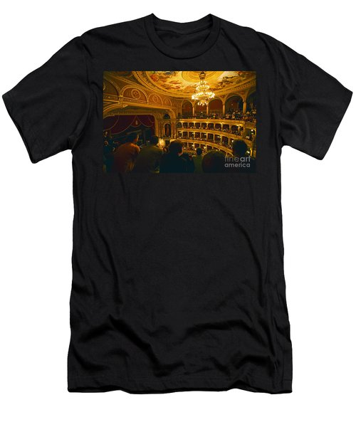 At The Budapest Opera House Men's T-Shirt (Slim Fit) by Madeline Ellis