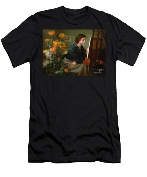 At The Easel  Men's T-Shirt (Athletic Fit)