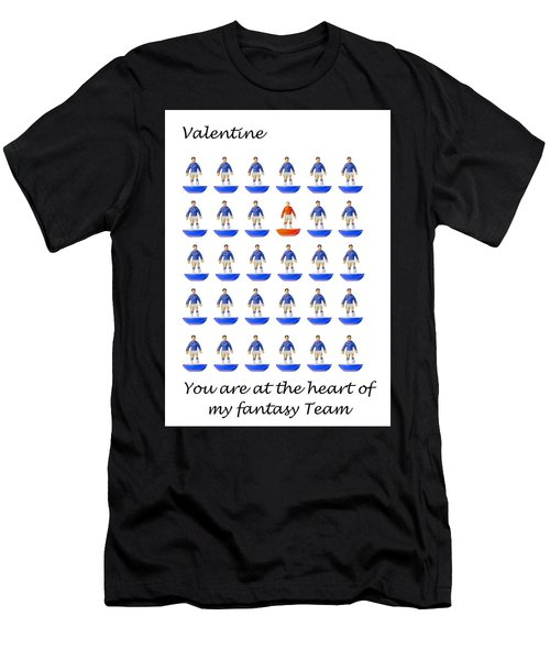At The Heart Of My Fantasy Team Men's T-Shirt (Athletic Fit)