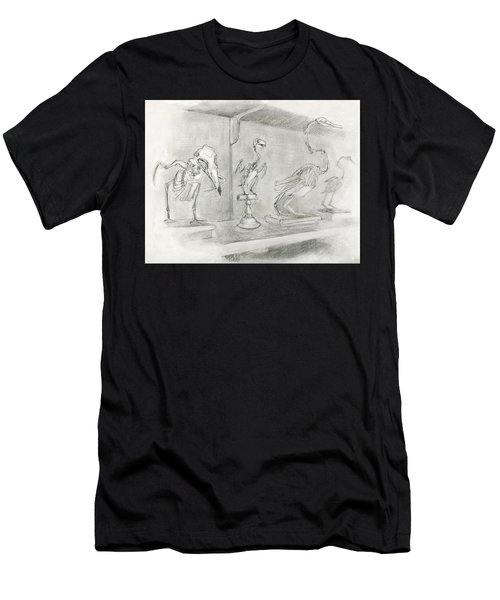 Bird Skeletons Men's T-Shirt (Athletic Fit)