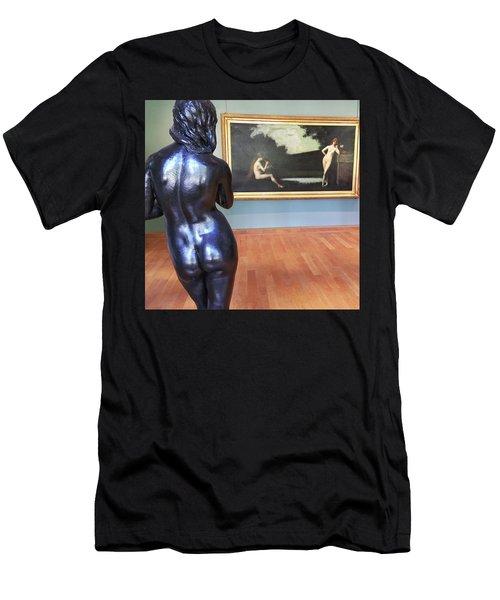 Men's T-Shirt (Athletic Fit) featuring the photograph At The Petite Palais Museum, Paris by Frank DiMarco