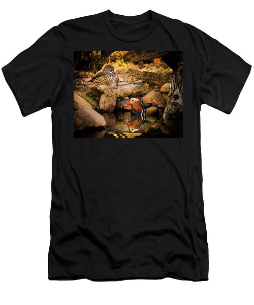 At The Waters Edge - Mandarin Ducks Men's T-Shirt (Athletic Fit)