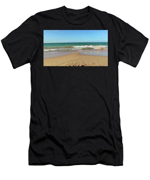 Atardecer Playa El Ultimo Trolly Tranvia Men's T-Shirt (Athletic Fit)