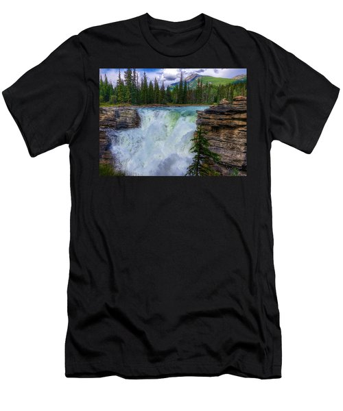 Athabasca Falls, Ab  Men's T-Shirt (Athletic Fit)