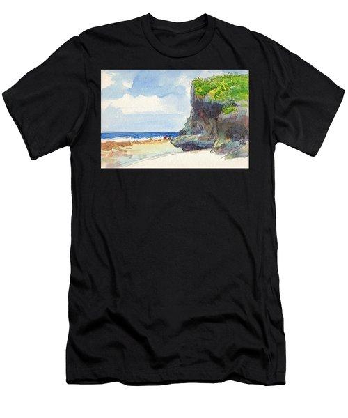 Atiu, Women Gathering Seafood Men's T-Shirt (Athletic Fit)