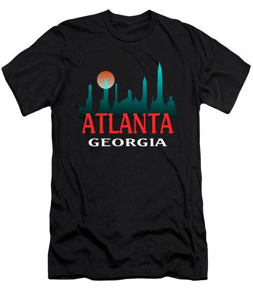 Atlanta Georgia Design Men's T-Shirt (Athletic Fit)
