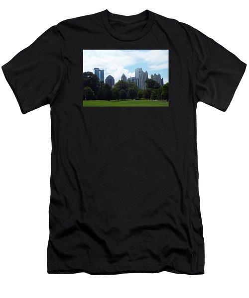 Men's T-Shirt (Slim Fit) featuring the photograph Atlanta Skyline by Jake Hartz