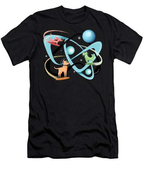 Atomic Rocket Powered Space Dogs Men's T-Shirt (Athletic Fit)