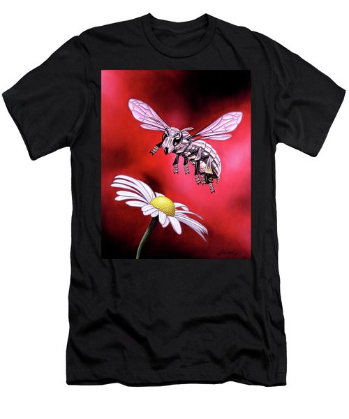Attack Of The Silver Bee Men's T-Shirt (Athletic Fit)