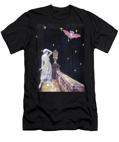 Men's T-Shirt (Slim Fit) featuring the mixed media Attempted Pick Up by Desiree Paquette