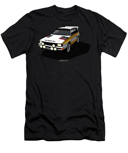 Audi Sport Quattro Ur-quattro Rally Poster Men's T-Shirt (Athletic Fit)