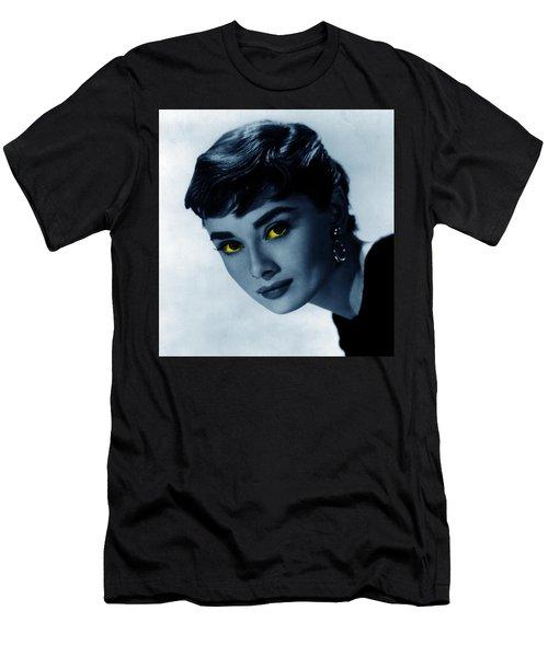 Audrey In Blue Men's T-Shirt (Athletic Fit)