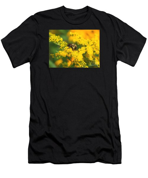 Men's T-Shirt (Slim Fit) featuring the photograph August Bee by Susan  Dimitrakopoulos