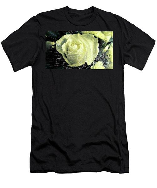 Aunt Edna's Rose Men's T-Shirt (Slim Fit) by Rachel Hannah