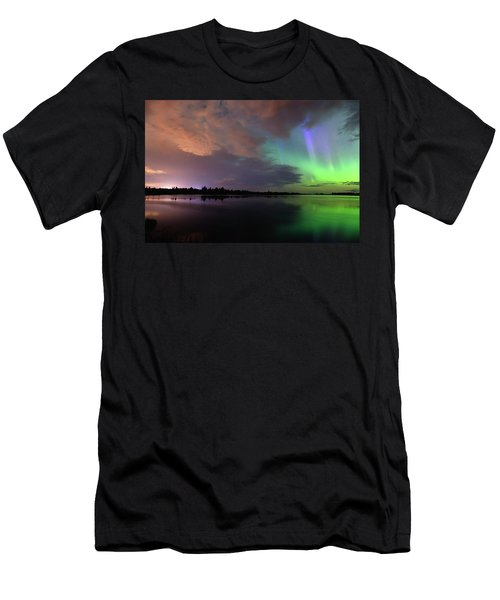 Aurora And Storm Clouds Men's T-Shirt (Athletic Fit)