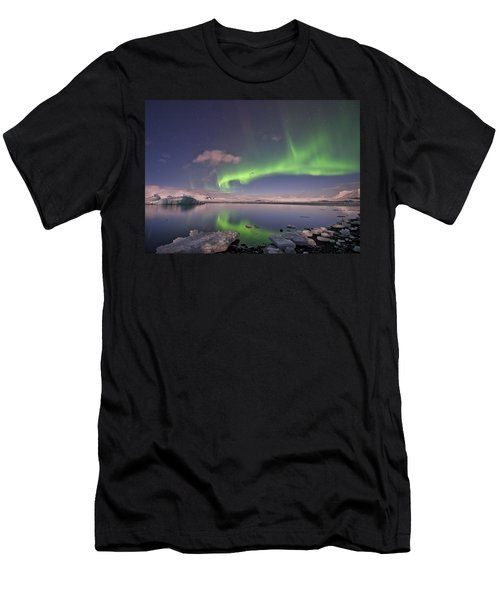 Aurora Borealis And Reflection #2 Men's T-Shirt (Athletic Fit)