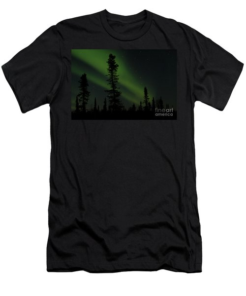 Aurora Borealis The Northern Lights Interior Alaska Men's T-Shirt (Athletic Fit)