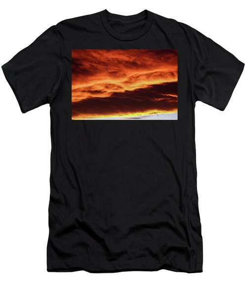 Aurora Firey Sunset Men's T-Shirt (Athletic Fit)
