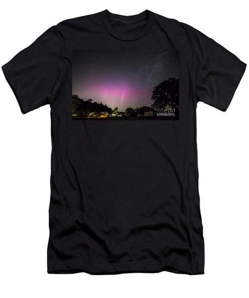 Aurora Over Sagadahoc Bay Campground Men's T-Shirt (Athletic Fit)