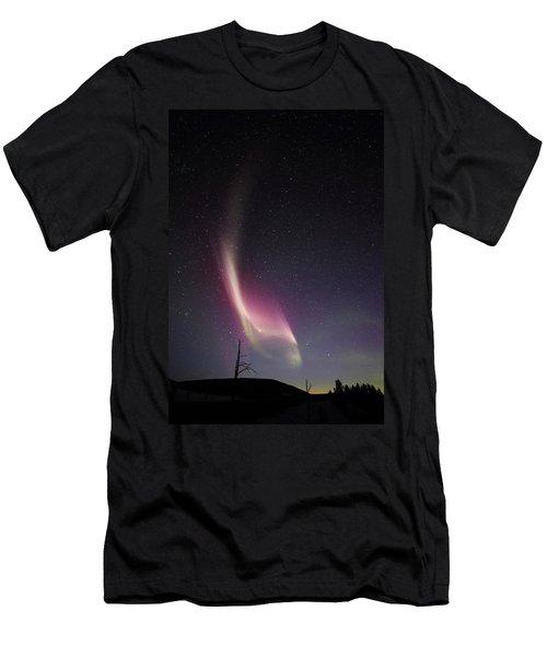 Auroral Phenomonen Knows As Steve, 4 Men's T-Shirt (Athletic Fit)