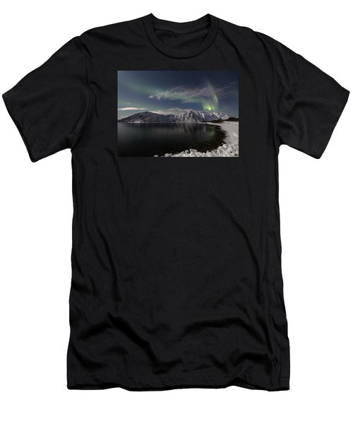 Auroras Over The Bay Men's T-Shirt (Athletic Fit)