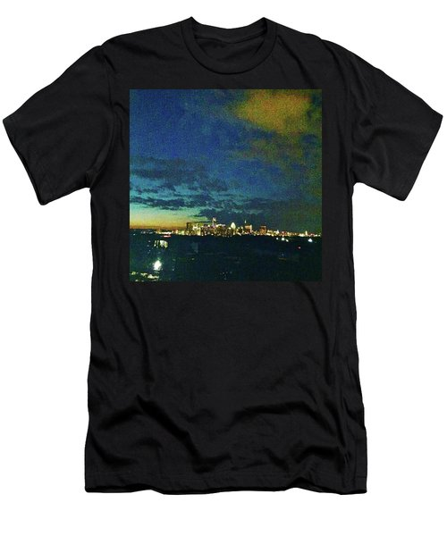 Austin At Dusk Men's T-Shirt (Athletic Fit)