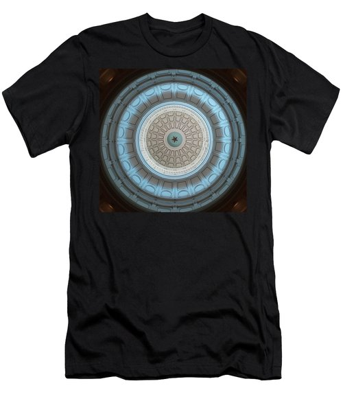 Austin Capitol Dome In Gray And Blue Men's T-Shirt (Athletic Fit)
