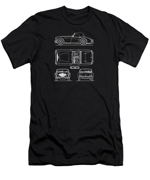 Austin Healey 100 Blueprint Men's T-Shirt (Athletic Fit)