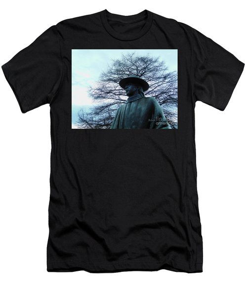 Austin Hike And Bike Trail - Iconic Austin Statue Stevie Ray Vaughn - Two Men's T-Shirt (Slim Fit) by Felipe Adan Lerma