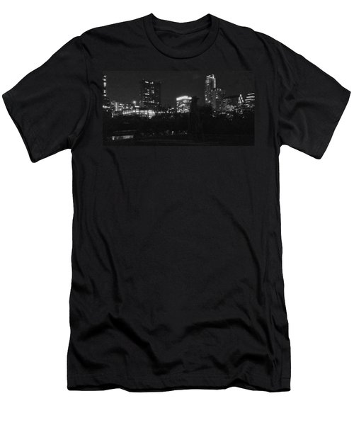 Austin Hike And Bike Trail - Srv Gritty Austin Night Panorama Men's T-Shirt (Athletic Fit)