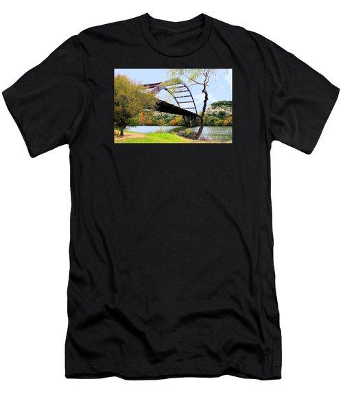 Austin Pennybacker Bridge In Autumn Men's T-Shirt (Athletic Fit)