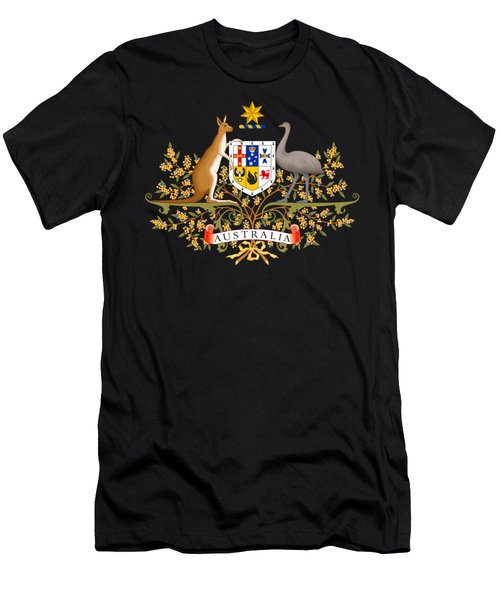 Australia Coat Of Arms Men's T-Shirt (Athletic Fit)