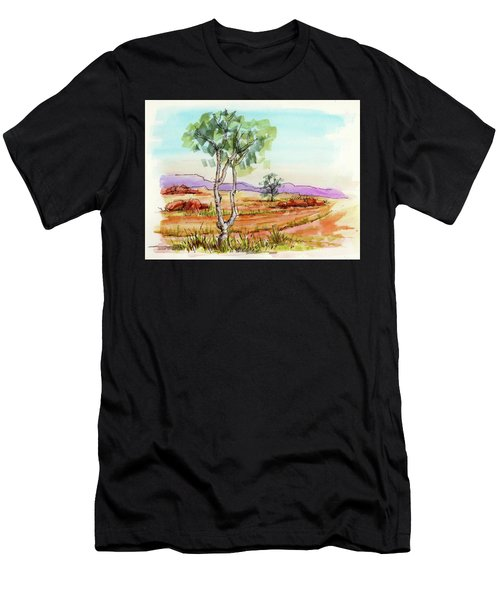 Australian Landscape Sketch Men's T-Shirt (Athletic Fit)