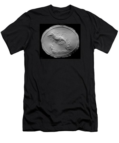 Men's T-Shirt (Slim Fit) featuring the relief Australian Reef Sea Horse by Suhas Tavkar
