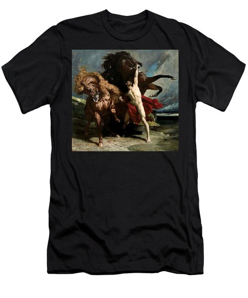 Automedon With The Horses Of Achilles Men's T-Shirt (Athletic Fit)