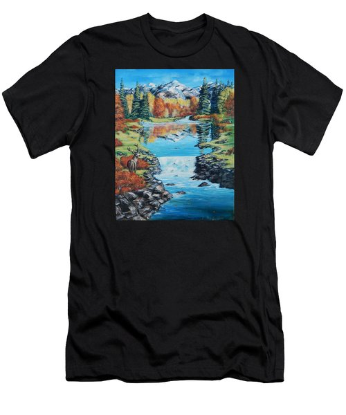 Autum Stag Men's T-Shirt (Athletic Fit)