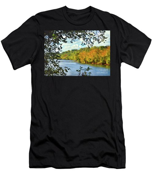 Autumn Along The New River - Bisset Park - Radford Virginia Men's T-Shirt (Athletic Fit)
