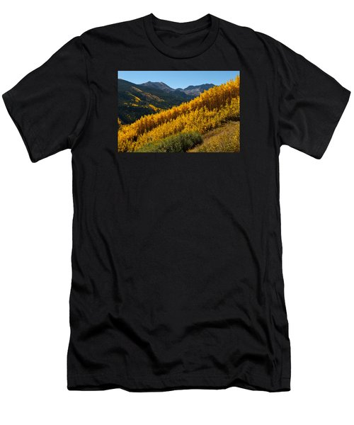 Autumn Aspen Near Castle Creek Men's T-Shirt (Athletic Fit)