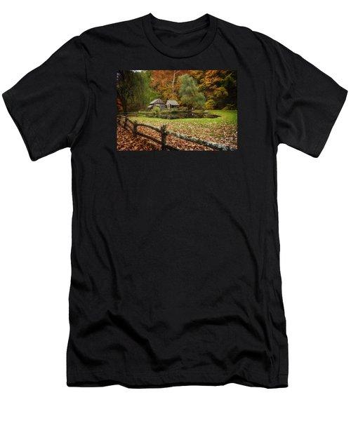 Autumn At Cuttalossa Farm V Men's T-Shirt (Slim Fit) by Debra Fedchin