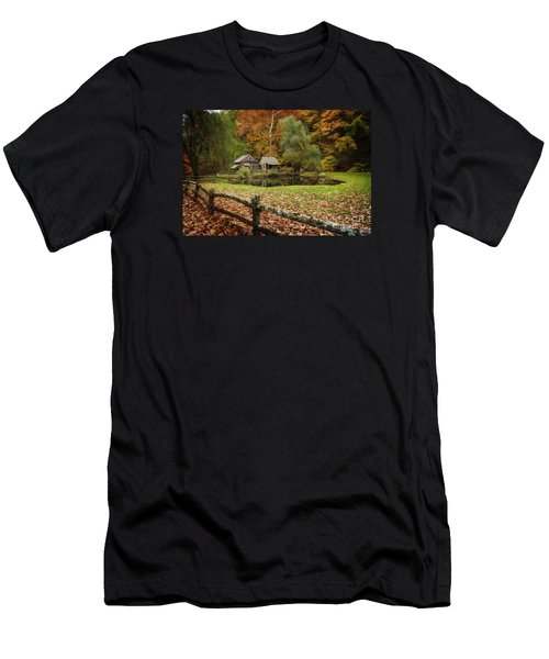 Autumn At Cuttalossa Farm V Men's T-Shirt (Athletic Fit)