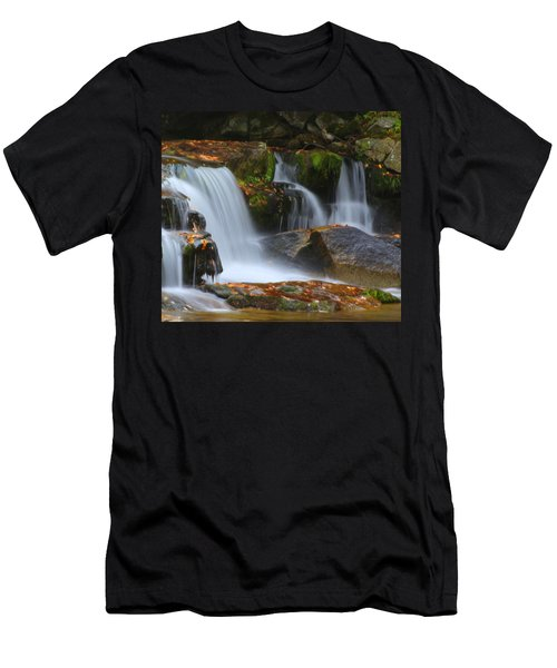 Autumn At Jackson Falls Men's T-Shirt (Athletic Fit)