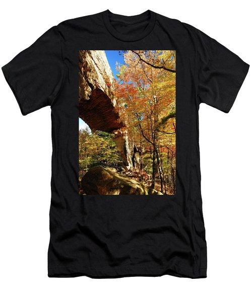 Autumn At Natural Bridge State Resort Men's T-Shirt (Athletic Fit)