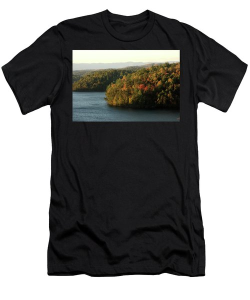 Men's T-Shirt (Slim Fit) featuring the photograph Autumn At Philpott Lake, Virginia by Emanuel Tanjala