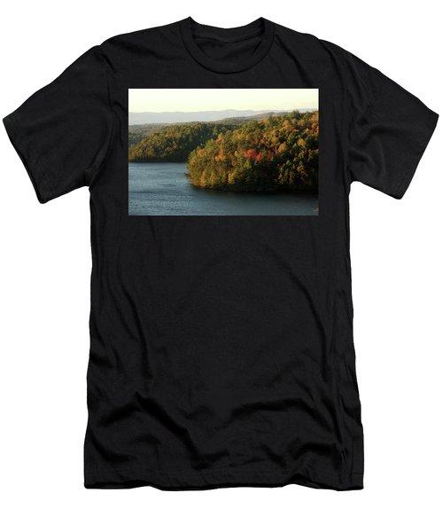 Autumn At Philpott Lake, Virginia Men's T-Shirt (Slim Fit) by Emanuel Tanjala